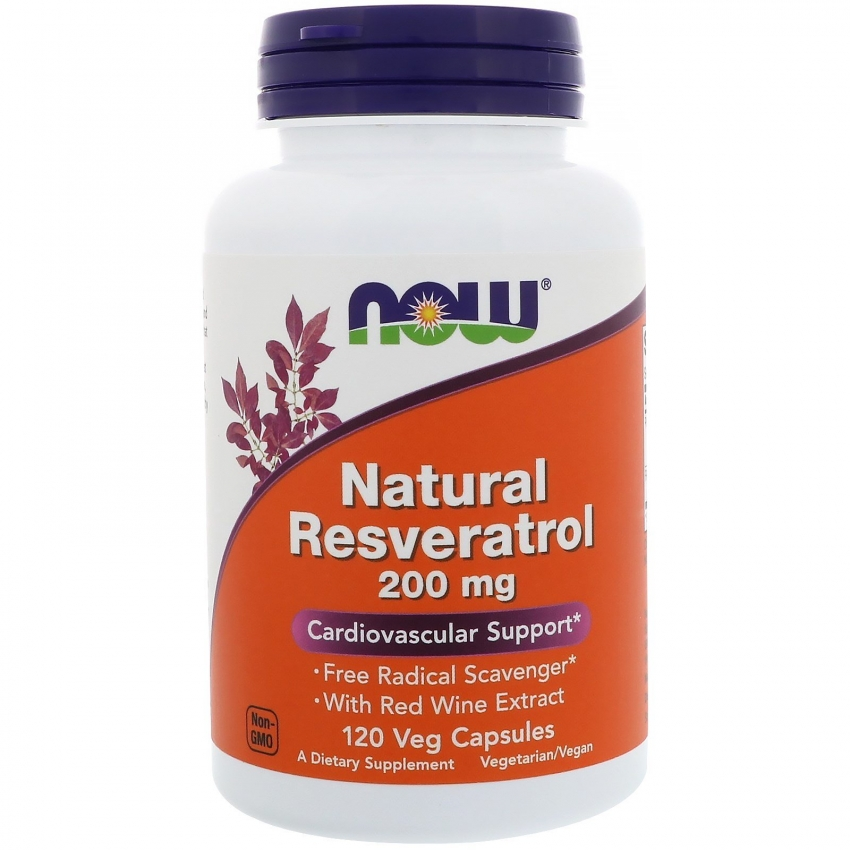 Resveratrol Natural, Ресвератрол Натуральный 200 мг - 120 капсул