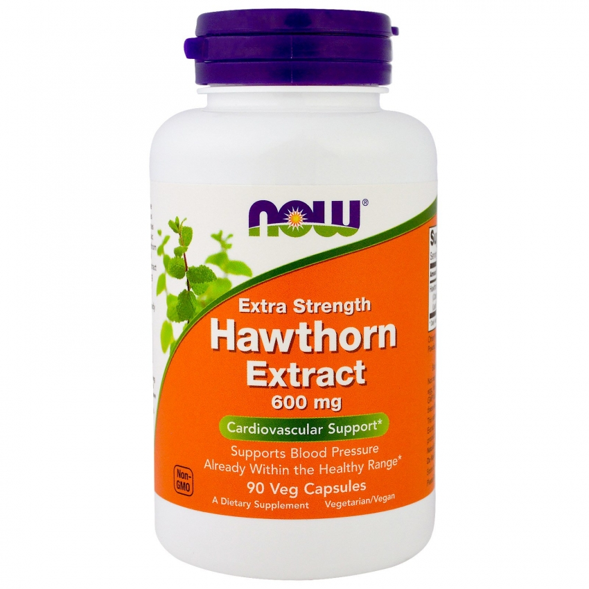 Hawthorn Extract, Боярышник 600 мг, Экстракт - 90 капсул