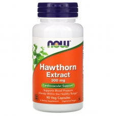 Hawthorn Extract, Боярышник 300 мг, Экстракт - 90 капсул